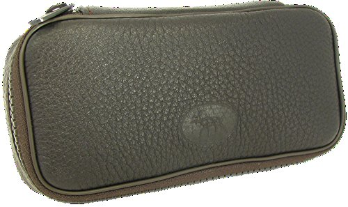 Martin Wess Germany ''Scandinavian Elk Leather'' 2 Pipe Bag Case Tobacco Pouch by Martin Wess