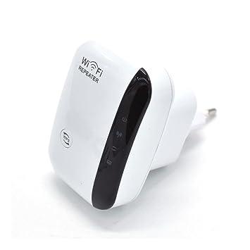 WWAVE Wireless Ap Repeater 300M Amplificador de señal WiFi repetidor Red (Enchufe de UK/