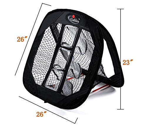Galileo Golf Chipping Net Practice Driving Training Nets with Target Square Hitting Aid by Galileo Thought (Image #2)