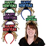 Beistle 80733 Glittered Happy New Year Headbands, 1 Per Package