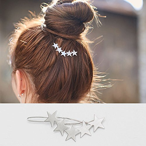 usongs imported cute frosted matte texture stars hairpin side folder