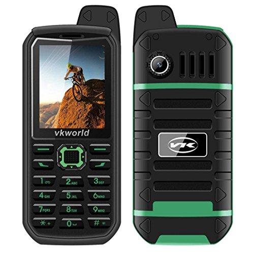 Hotsale!Elevin(TM) 2017New Vkworld Stone V3 Plus PROOFINGS Smartphone 2.4 Dual Sim Strong Signal 4000mA Mobile Phone US Plug (Green)