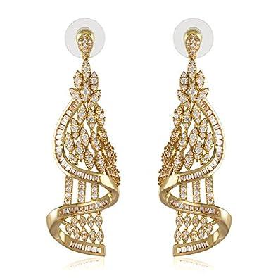 b32238b31967c SHAZE Golden Elite Earrings|Earrings For Women|Earrings For Women Stylish