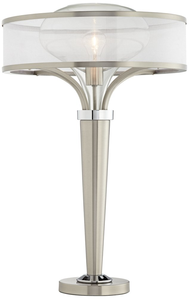 Possini Euro Franco Brushed Steel Table Lamp