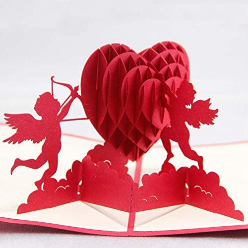 MADE4U Kirigami Papercraft 3D Pop Up Card Valentine's Day & Wedding Collection (Cupid's Heart) HK6013-1 Sales