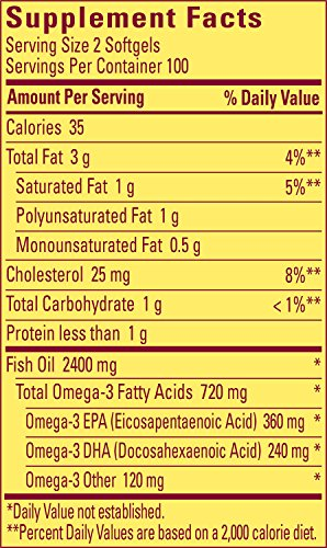 Nature Made Burpless Fish Oil 1200 mg  w. Omega-3 360 mg Softgels Value Size 200 Ct by Nature Made (Image #2)