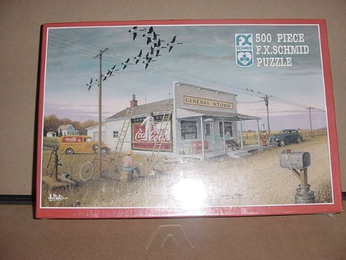 COCA COLA, OLD TIME GENERAL STORE DESIGN, JIGSAW PUZZLE, 500 PIECES, 17 1/2