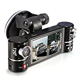 Quality Dual Lens Camera Vehicle Car DVR Dash Cam Two Lens Video Recorder F600