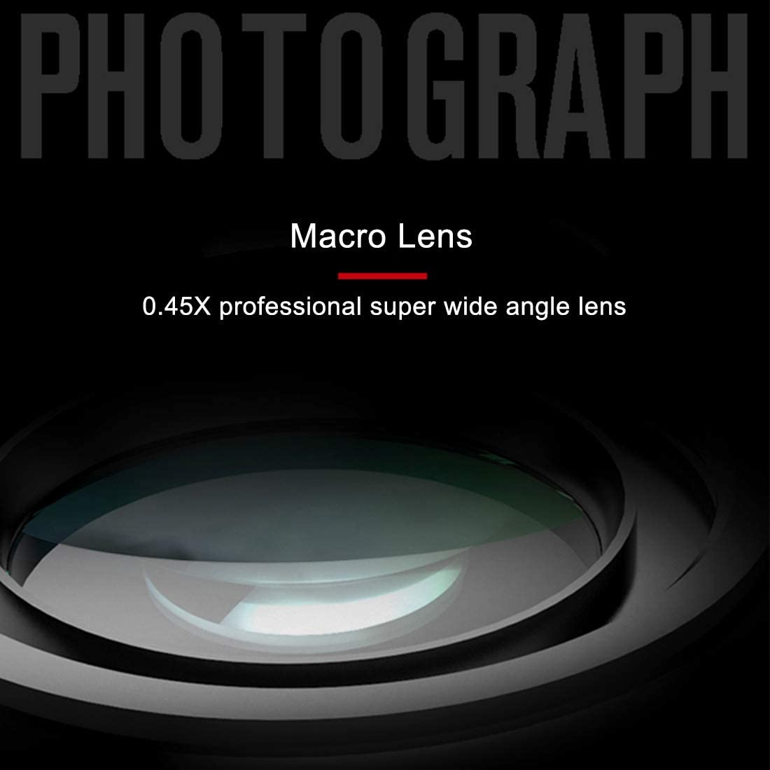 Happyshopping Camera Lens 62mm 0.45X Super Wide Angle Lens with Macro Lens