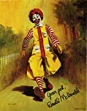 Ronald McDonald Clown Photo Print 14 x 11'