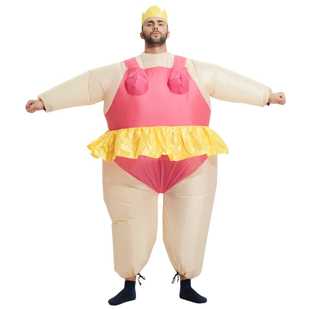 TOLOCO Inflatable Costume   Inflatable Costumes For Adults Or Child   Halloween Costume   Blow Up Costume (Ballet-Adult)