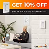 Wireless Dimmer Light Switch, Compatible with