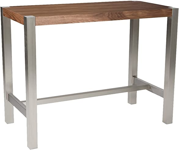 Moe s Home Collection 47 by 23 by 36-Inch Riva Counter Table, Walnut Veneer