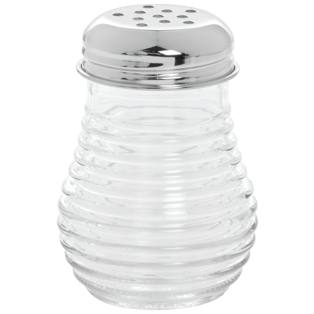 Tablecraft (BH4) 6 oz Cheese/Pepper Shaker w/Perforated Top [Set of 12] by Tablecraft