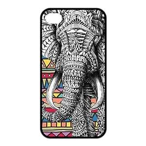 Masq Unique Custom TPU Rubber iPhone 4/4S Case Cover - Elephant