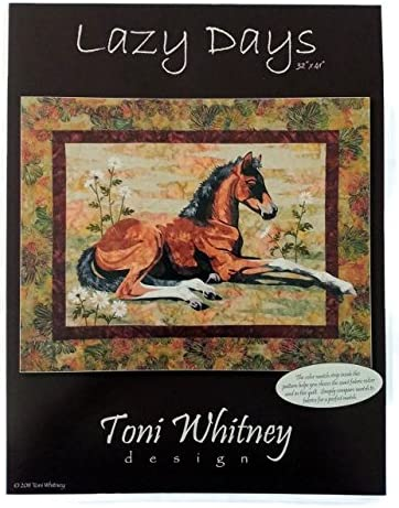 Lazy Days Horse Foal Toni Whitney Designs Applique Quilt Pattern