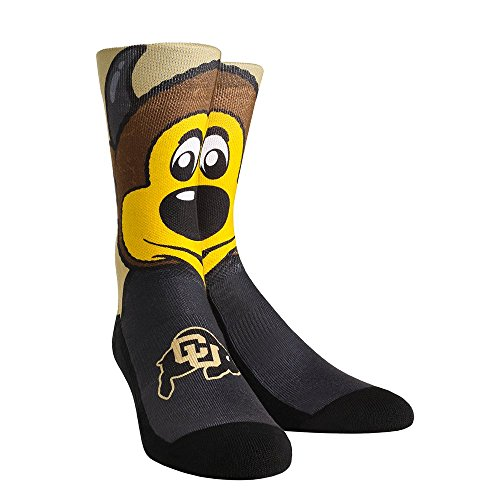 NCAA University of Colorado Buffaloes Custom Athletic Crew Socks -