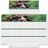 "House of Doolittle 2016 Laminated Wipe Off Wall Calendar, 24"" x 37"", Earthscapes Waterfalls (HOD397-16)"