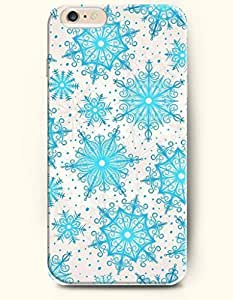 iPhone 6 Plus Case 5.5 Inches Blue Snowflakes