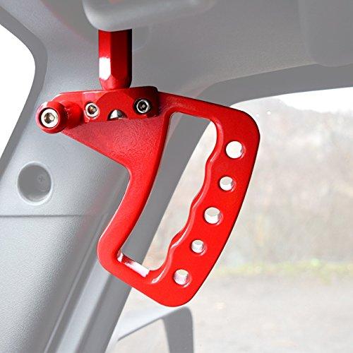DIYTuning New Aluminum Grab Handles GraBars for Jeep Wrangler 2007-2017 2&4 Door (Red ()