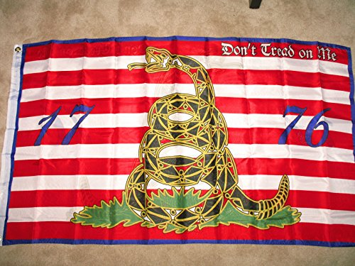 (Infinity Superstore 3ft x 5ft First Navy Jack Don't Tread on Me 1776 Tea Party Flag)