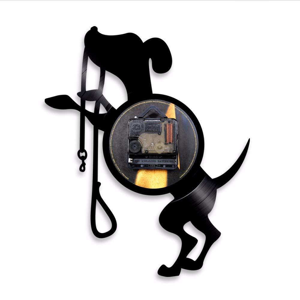 1 Lindo Perro Disco de Vinilo Reloj de Pared Animal Retro luz de Fondo Plomo Moderno Regalo Hecho a Mano para el Amante del Perro: Amazon.es: Relojes