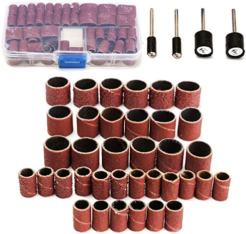 Grit Size 60//120//320 ILS 100 Piece Abrasive Cartridge Roll Sanding and Polishing Kit for Dremel Rotary Tool with 1//2-1//4 Inch Smoothing Chuck