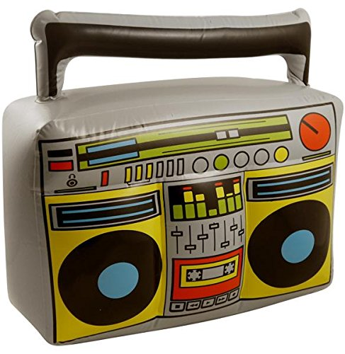 Henbrandt Inflatable Blow Up Boom Box Music Player Ghetto Blaster Novelty Fancy Dress Prop Munchiemooskids X99-065HNB-FLTB-A
