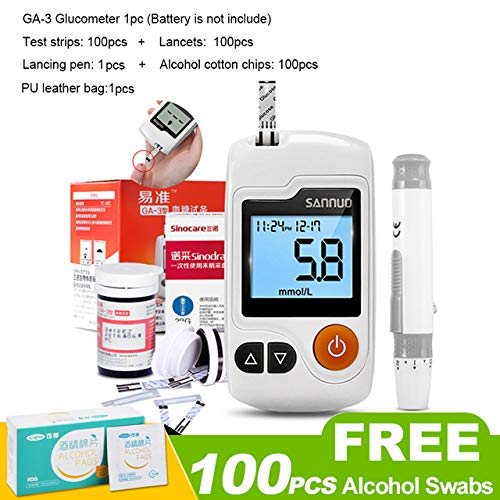 YAMEIJIA GA-3 Blood Glucose Meter Device Glucometer Blood Sugar Monitor with Test Strips Free Code for Diabetics,1
