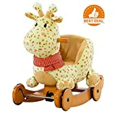 why are frogs wet - labebe Child Rocking Horse Plush, Stuffed Animal Rocker Toy, 2 in 1 Yellow Giraffe Rocker with wheel for Kid 6-36 Months, Rocking Toy/Wooden Rocking Horse/Rocker/Animal Ride/Deer Rocker for Boy&Girl