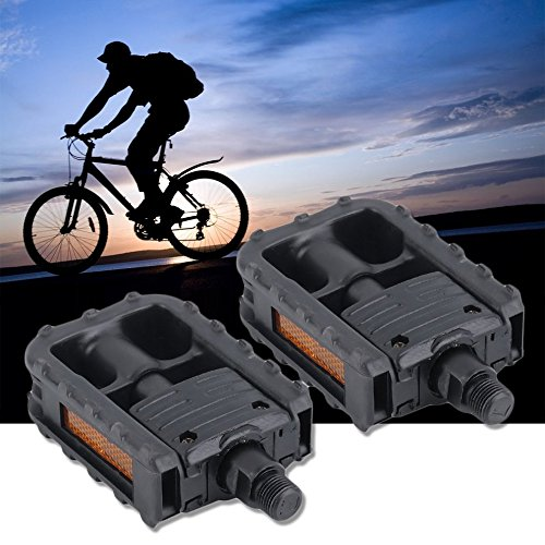 Universal Plastic Mountain Bike Bicycle Folding Pedals Non-slip Black by CLKJYF