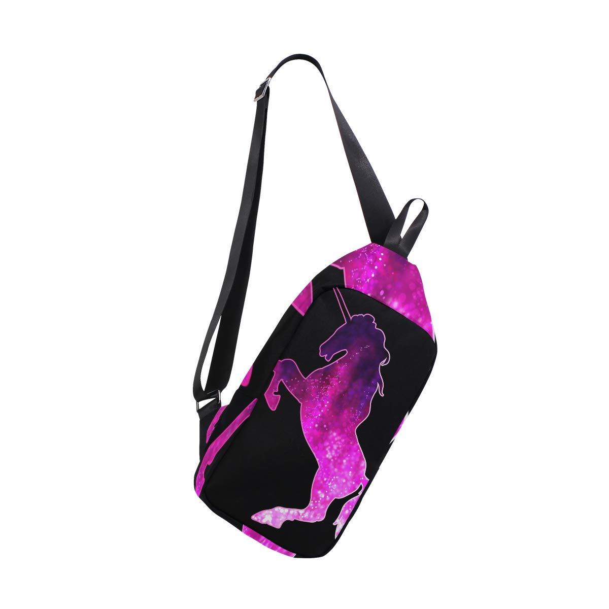 TFONE Unicorn Pattern Crossbody Bag Lightweight Chest Shoulder Messenger Pack Backpack Sling Bag