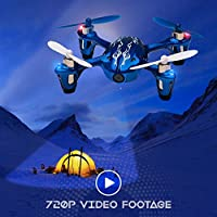 Tekstra Hubsan X4 H107C 720P HD Camera Drone, Beginner Trainer Quadcopter, Cobalt Blue from Tekstra Brands