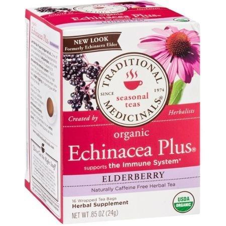 Traditional Medicinals Organic Echinacea Plus Elderberry - Pack of 3