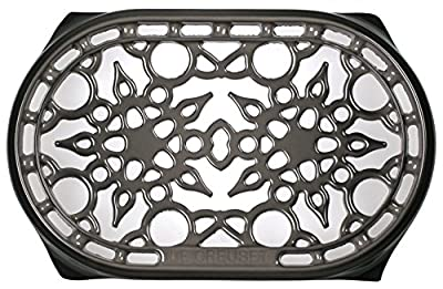 "Le Creuset Cast Iron Deluxe Oval Trivet, 10 1/2"" x 6 3/4"", Oyster"