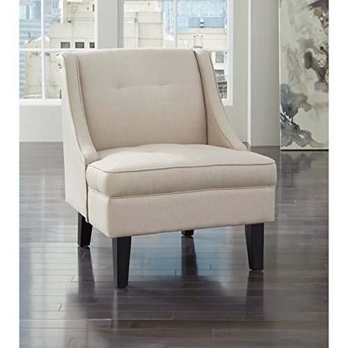 Amazon Com Ashley Clarinda Fabric Accent Chair In Cream