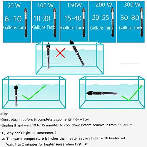 Rombot Aquarium Heater Fish Tank Heater,Explosion-Proof,Adjustable Temperature Displayer Auto Thermostat 200W