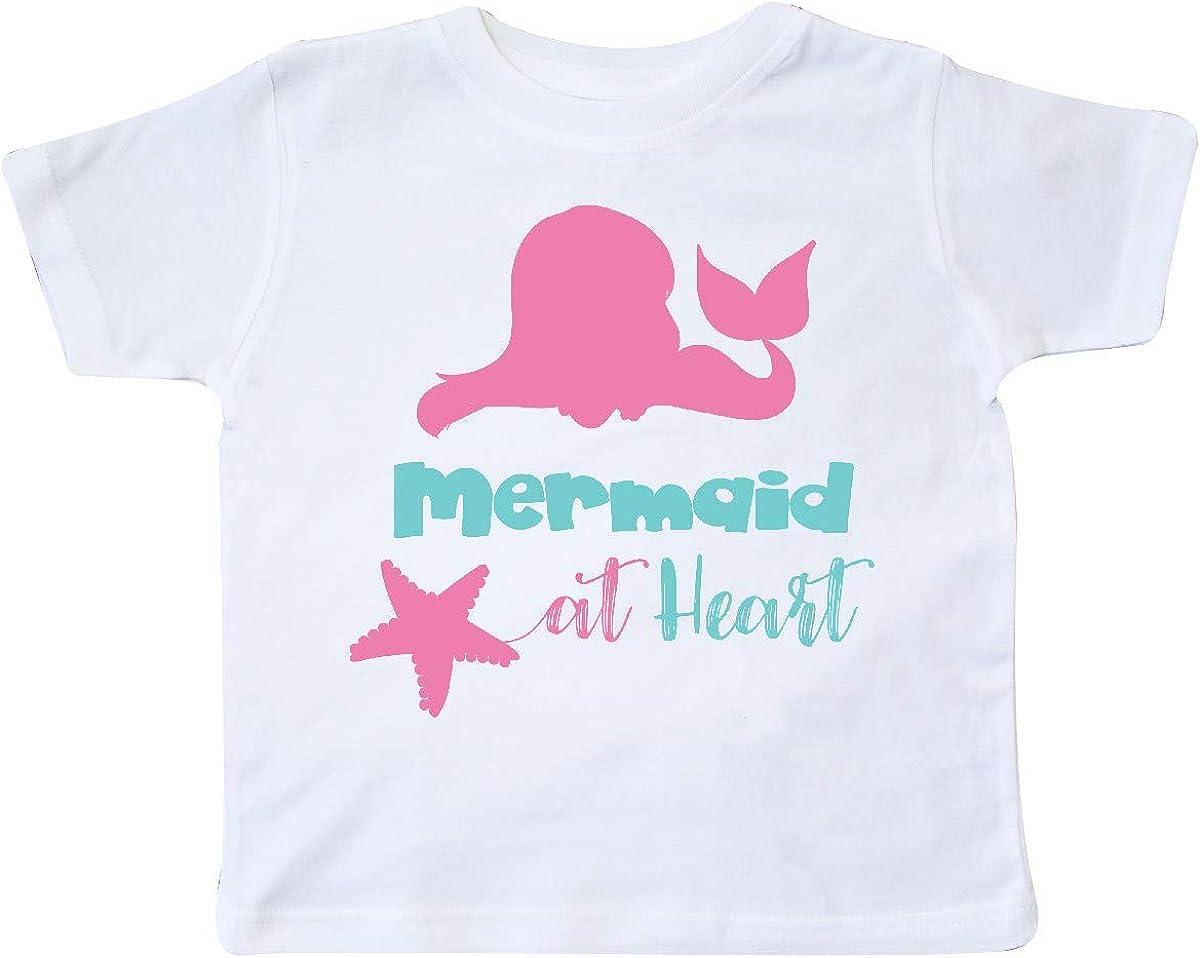 Pink Blue Toddler T-Shirt Mermaid Silhouette inktastic Mermaid at Heart