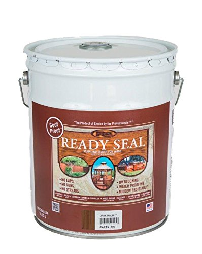 Ready Seal 525 5-Gallon Pail Dark Walnut Exterior Wood Stain and (Oil Wood Stain)