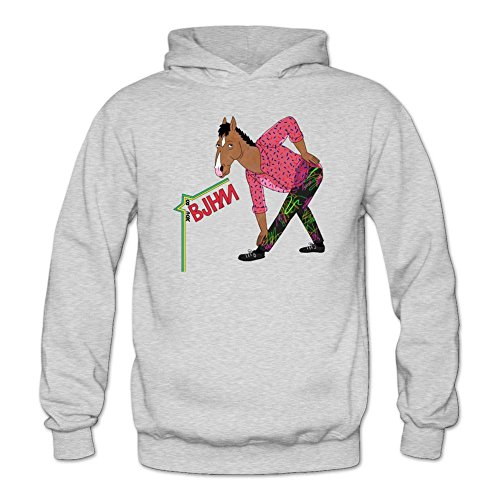 Tommery Women's BoJack Horseman Art Long Sleeve Sweatshirts (Snl Halloween Jim Carrey)