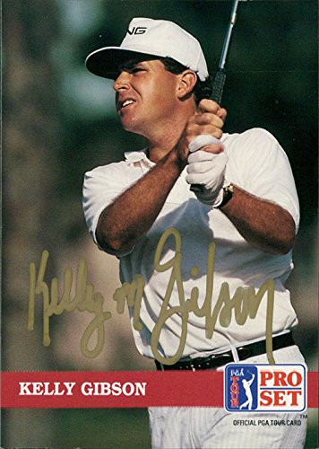 Card Set Golf Pro (Signed Gibson, Kelly 1991 Pro Set Golf Card autographed)