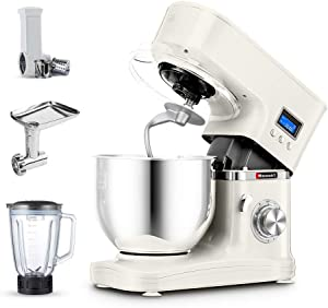 Hauswirt 3-in-1 Stand Mixer Bundle with Food Processor, Blender and Meat Grinder