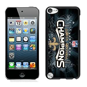 new orleans saints Black iPod Touch 5 Phone Case Grace and Beautiful Protective