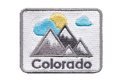 Colorado Mountains - 100% Embroidery Sew Or Iron-on Colorado Patch Active by Hey Mountains