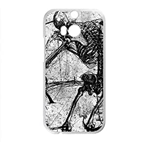YYYT Creaive Skull Pattern Custom Protective Hard Phone Cae For HTC One M8