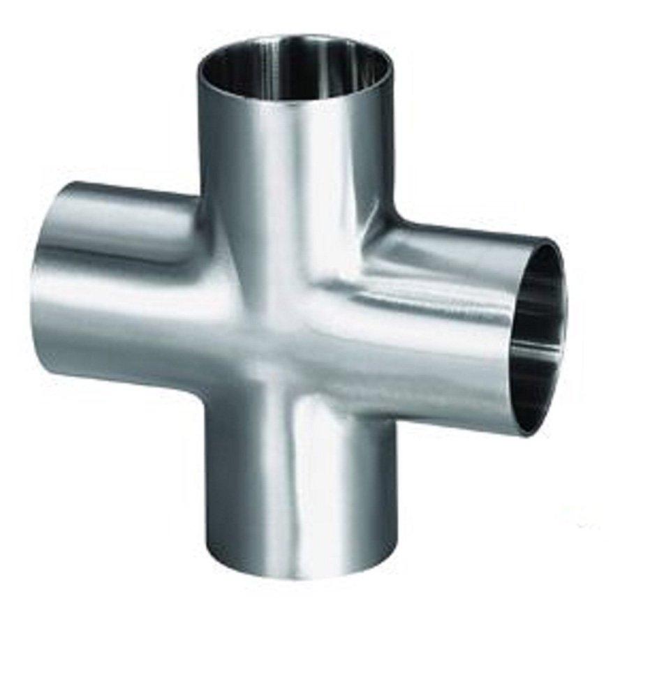 Steel and Obrien 9W-25-1-316 Stainless Steel Butt Weld Long Cross 2-1//2