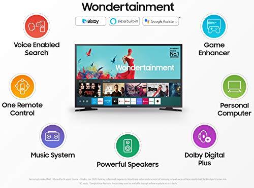 Samsung 80 cm (32 inches) Wondertainment Series HD Ready LED Smart TV UA32TE40AAKXXL (Titan Gray) (2020 model) Discounts Junction