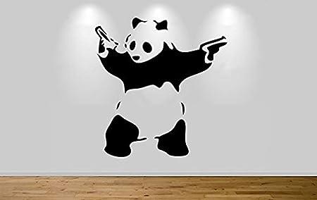 GANGSTA PANDA-TEE BANKSY PANDA T SHIRT GRAFFITI