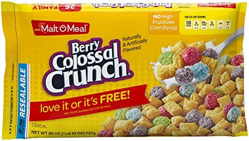 Breakfast Cereal: Berry Colossal Crunch