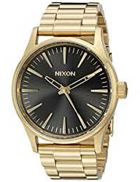 Nixon Unisex The Sentry 38 SS Gold/Black Sunray